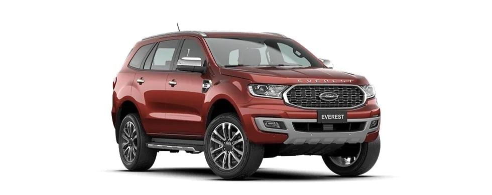 Ford Everest 2021 màu đỏ Sun sét tại Hà Tĩnh