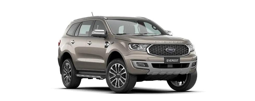 Ford Everest 2021 màu ghi vàng tại Hà Tĩnh