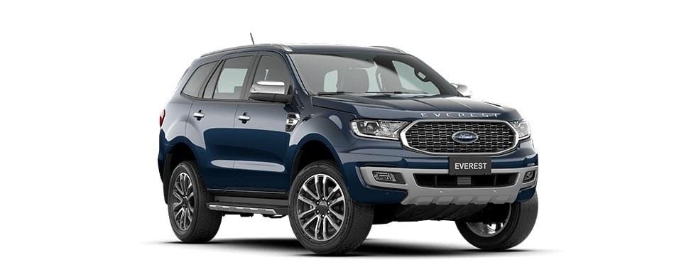 Ford Everest 2021 màu xanh thiên thanh tại Hà Tĩnh